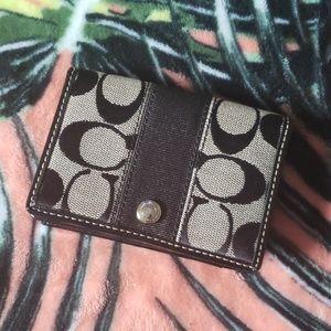 COACH Black Credit Card ID Wallet